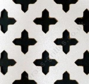 Cross Shape 18mm White Faced MDF Decorative Grille Screening Panel 1830mm x 610mm x 3mm